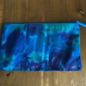 Large tie dye canvas bag